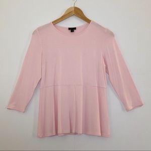 J. Jill Wearever Collection Petite Peplum Pink Top for sale